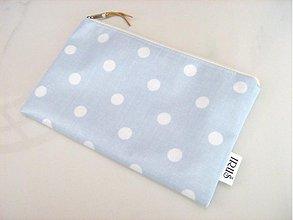 Taštičky - Modroučký pastel - omyvatelná, voděodolná taštička - 4065013_