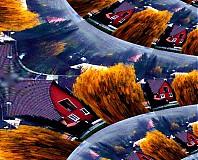 Grafika - Dedinka v údolí - 4067433_