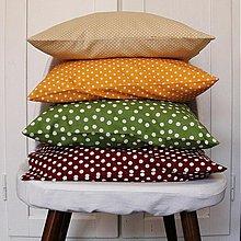 Úžitkový textil - Sada 4 srdiečkové obliečky - Jeseň - 4068341_