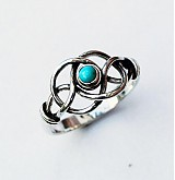 Prstene - Knot turquoise ring - 4071830_
