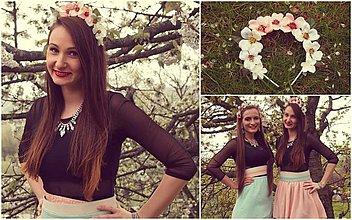 Ozdoby do vlasov - Jarná kvetinová čelenka 2 - 4072418_
