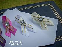 Pierka - svadobné pierka v zlatom - 4071237_
