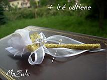 Pierka - svadobné pierka v zlatom - 4071241_