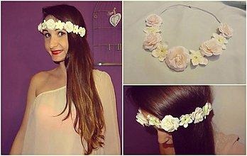 Ozdoby do vlasov - Romantická čelenka na gumičke - 4072452_