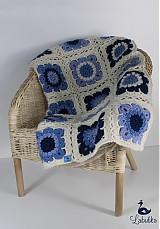 Úžitkový textil - Modro-biela deka - 4075789_