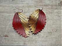 Náušnice - zlatočervené - 4078326_