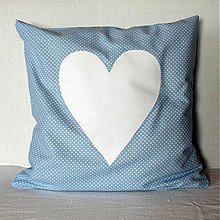 Úžitkový textil - Obliečka Belasá malá bodka - 4077525_