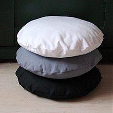 Úžitkový textil - Sedáky na stoličku aj vankúšiky okrúhle - 4078614_
