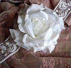 Ozdoby do vlasov - Krajková vintage čelenka s ružou - 4078830_