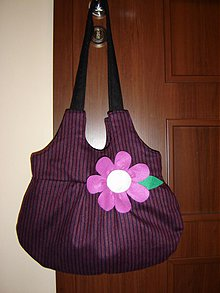 Veľké tašky - Violet Flower - 4081152_
