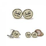 Šperky - Manžetky pre svedka (kruhové - strieborné + darček.krabička) - 4081290_