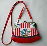 Detské tašky - červená loďková - 4081008_