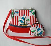 Detské tašky - červená loďková - 4081011_