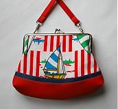 Detské tašky - červená loďková - 4081014_