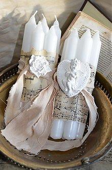Svietidlá a sviečky - Shabby sviečky - 4085697_