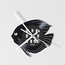 Hodiny - BIG FAT FISH zerone - vinylové hodiny - 4083612_