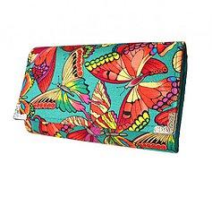 Peňaženky - peněženka Red Butterflies - 4086616_