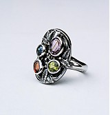Prstene - Fancy colour art&craft ring - 4091106_