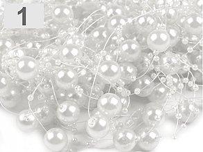 Galantéria - Perličky na silikóne biele - 4091347_