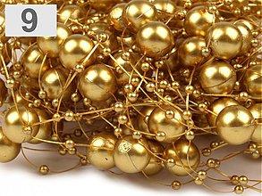 Galantéria - Perličky na silikóne zlaté - 4091371_