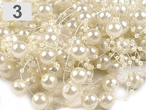 Galantéria - Perličky na silikóne perlové - 4091386_