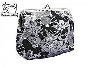 Kabelky - zľava Kabelka brokátová  spoločenská do ruky , dámská kabelka 1370 - 4095521_