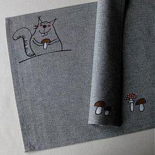 Úžitkový textil - S MUCHOMŮRKOU - prostírání - 4094099_