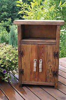 Nábytok - Vintage vidiecka skrinka - 4093335_