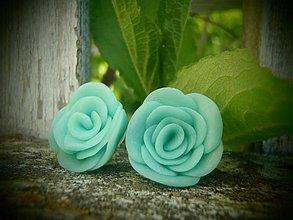 Náušnice - Mint roses - 4093253_