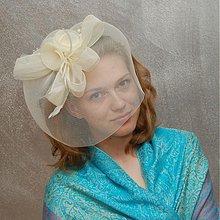 Ozdoby do vlasov - Bride šampaň ... klobouk či fascinator - 4096859_