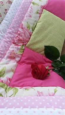 Úžitkový textil - Pivonková prikrývka - 4099195_