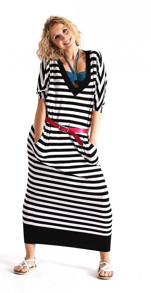 Pohodlné pruhované šaty   ladeesse - SAShE.sk - Handmade Šaty c006c4fce0
