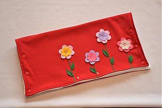 Textil - rukávnik na kočík s kvetinkami - 4097806_