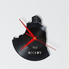 Hodiny - Beckov Castle - vinylové hodiny - 4097512_