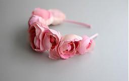 Čelenky - Čelenka z hedvábných růží - 4098284_