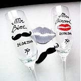 - Svadobné poháre na želanie - Lips and Moustache - 4098011_