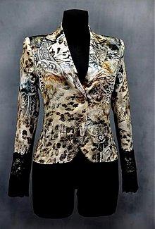 Kabáty - Hodvábne tigrové sako -zľava 50%!!! - 4099664_