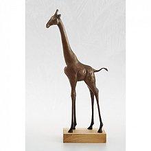 Socha - Žirafa - bronzová socha - originál - 4100827_
