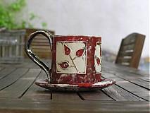 Nádoby - šípková šáločka s tanierikom - 4103200_
