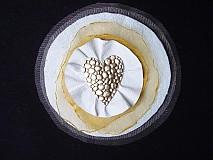 - Brošňa koženo-textilná, láska v zlate - 4100337_
