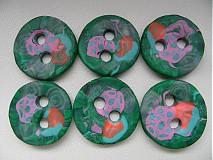 Materiál ručne robený - zelené gombíky - 4106359_