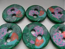 Materiál ručne robený - zelené gombíky - 4106360_