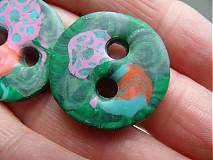 Materiál ručne robený - zelené gombíky - 4106364_