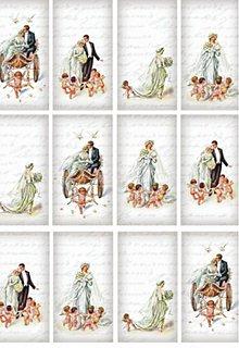 Papier - ryžový papier mladomanželia  - 4104259_