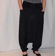 Nohavice - Turky - turecké nohavice černý bambus - 4104219_