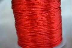 Šnúrka saténová červená, 1mm, 0.17€/meter