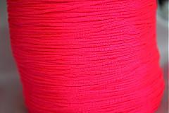 Galantéria - Šnúrka nylon neonova ružová, 1mm, 0.11€/meter - 4104816_