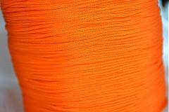 Galantéria - Šnúrka nylon neonova oranžová, 1mm, 0.11€/meter - 4104828_