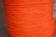 Galantéria - Šnúrka nylon oranžová, 1mm, 0.11€/meter - 4104847_