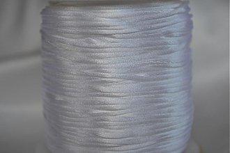Galantéria - Šnúrka saténová biela, 1mm, 0.14€/meter - 4104626_